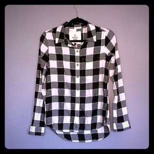 So Brand checkered button down long sleeve